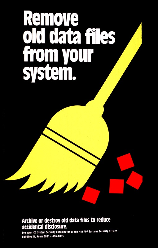 National Institutes of Health - Remove old data from your system