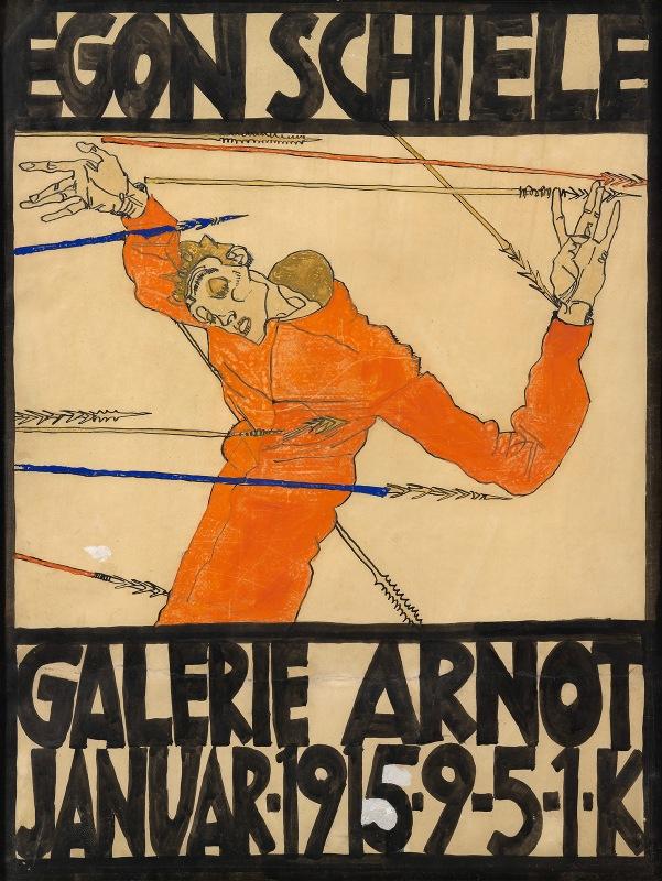 Egon Schiele - Plakat der Schiele-Ausstellung in der Galerie Arnot