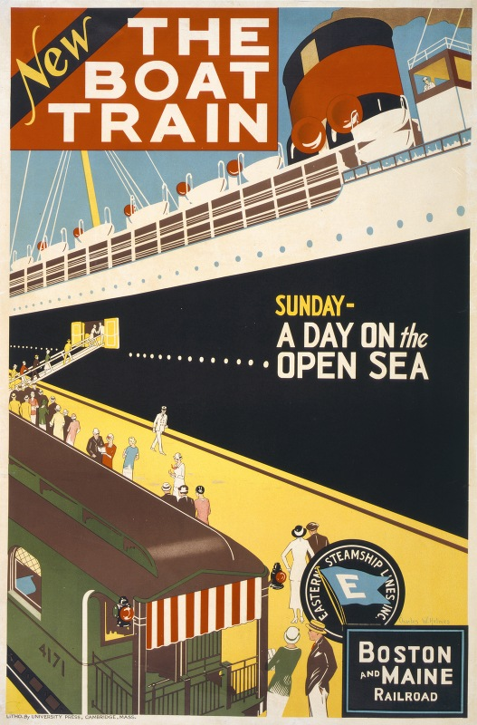 Charles W. Holmes - New. The boat train. Sunday – a day on the open sea