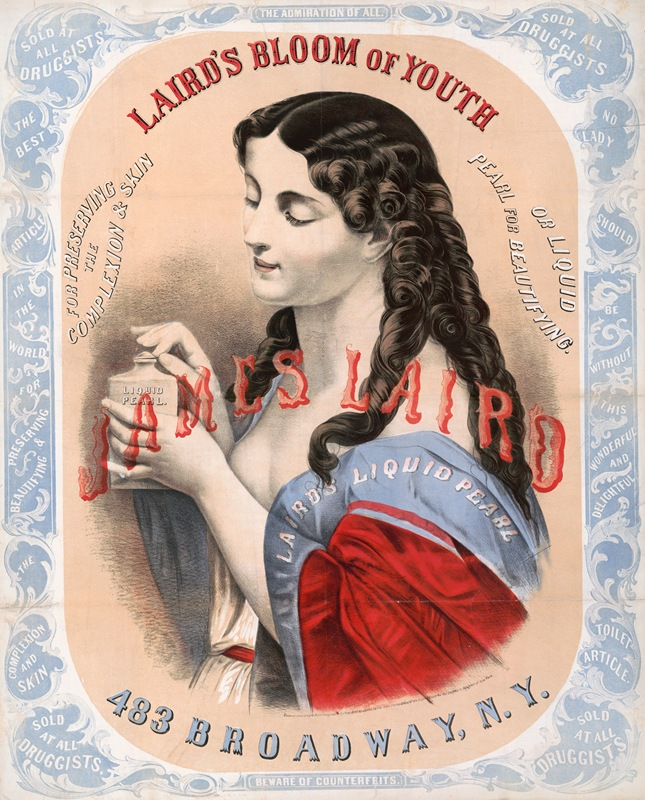 Anonymous - Laird's bloom of youth, for perserving the complexion & skin or liquid pearl for beautifying