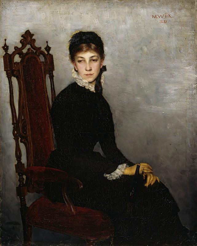 Maria Wiik - Portrait Of Hilda Wiik