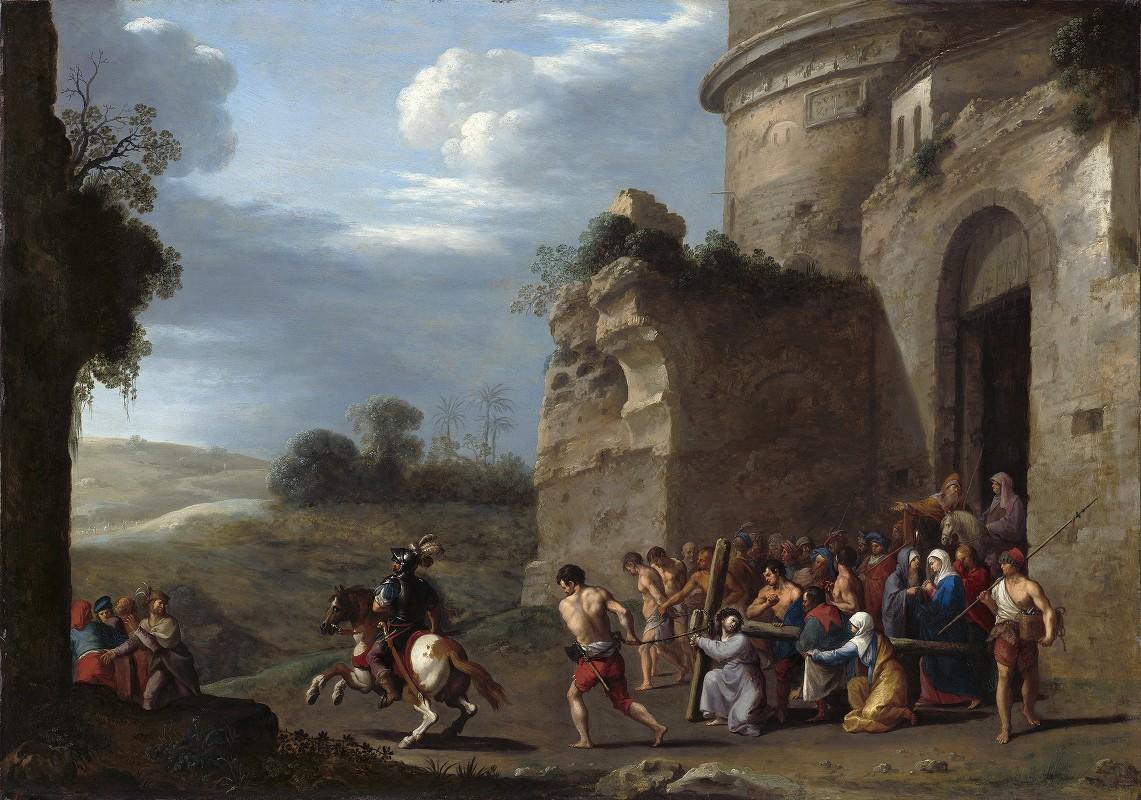 Cornelis Van Poelenburch - Christ Carrying the Cross