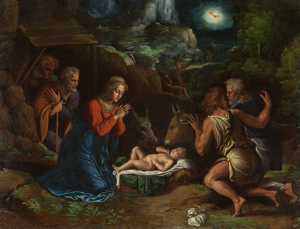 Girolamo Da Carpi - The Adoration of the Shepherds