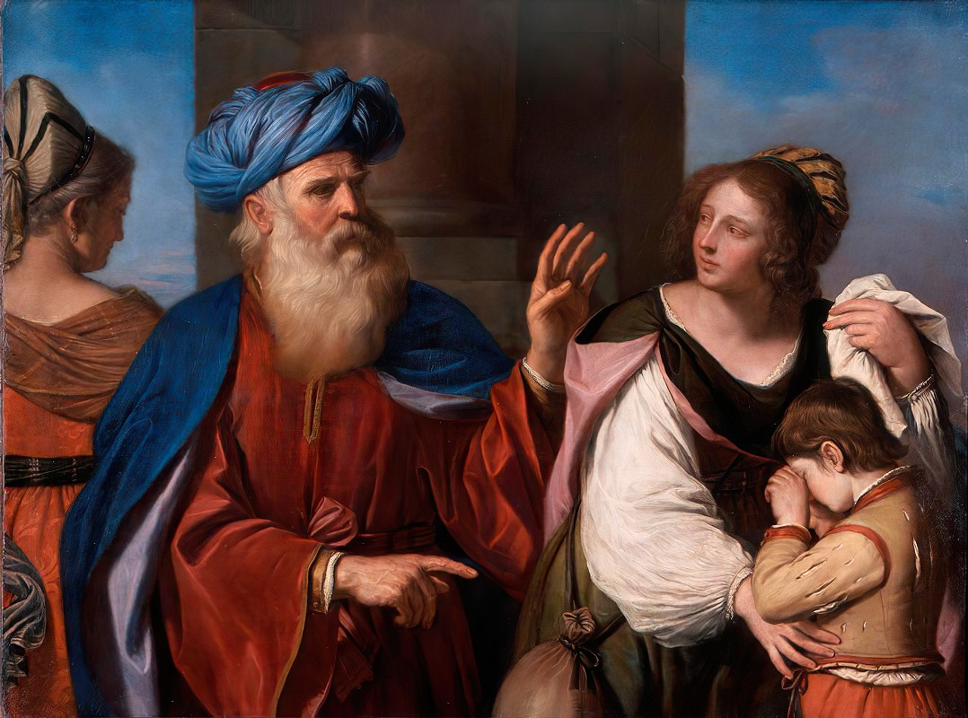 Guercino - Abraham Casting out Hagar and Ishmael