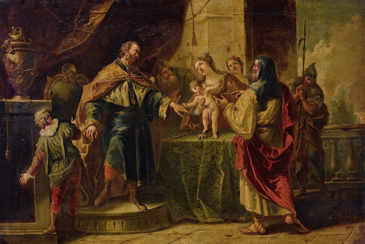 Gaspare Diziani - The Infant Moses Trampling On Pharaoh's Crown