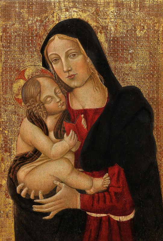 Follower of Filippo Lippi - The Madonna teaching the Child to read