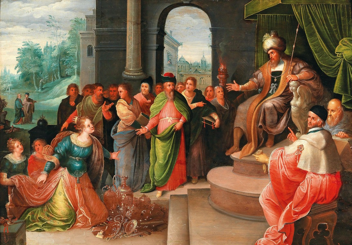 Workshop of Frans Francken the Younger - The Queen of Sheba and King Solomon