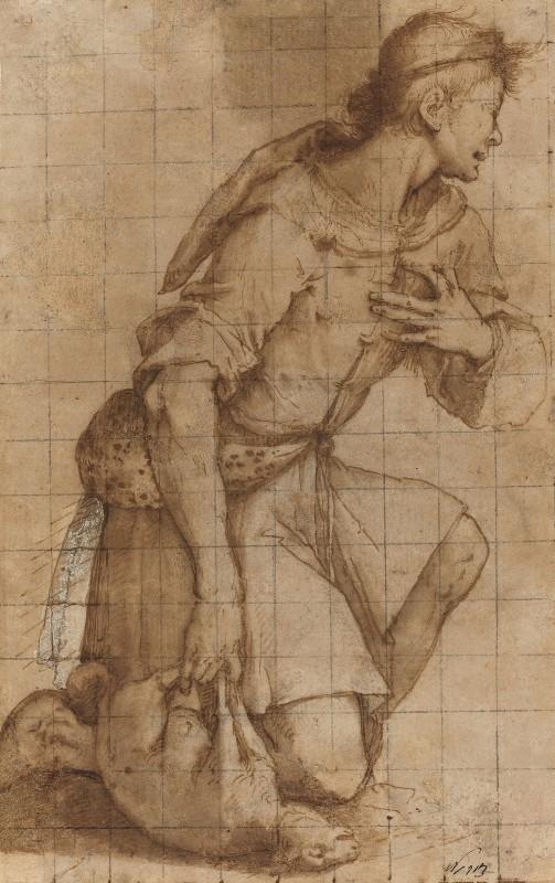 Jacopo Ligozzi - Kneeling Shepherd