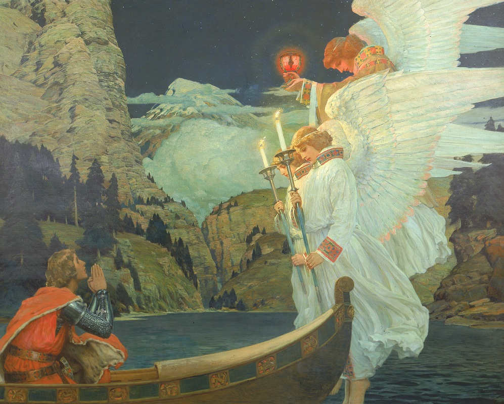 Frederick Judd Waugh - The Knight of the Holy Grail