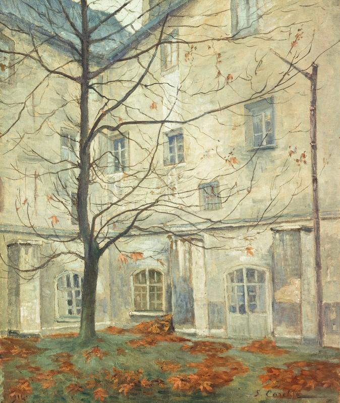 Georges-Émile Carette - La Cour Lacordaire, Au Couvent Des Carmes, Rue De Vaugirard