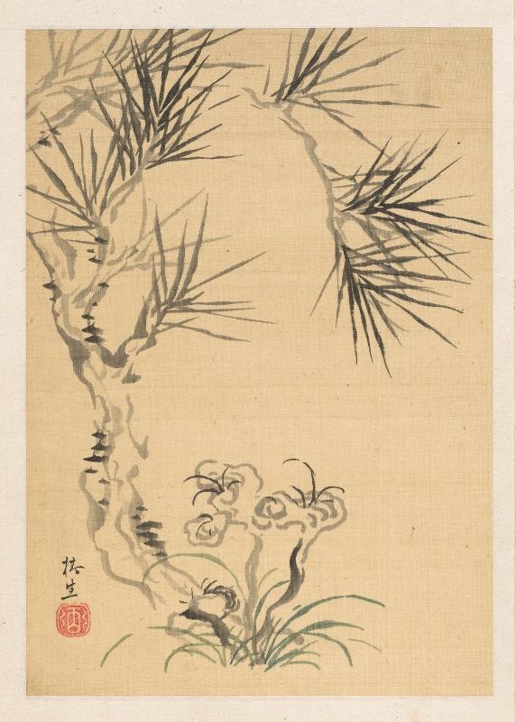 Tsubaki Chinzan - Pine Tree and Fungus