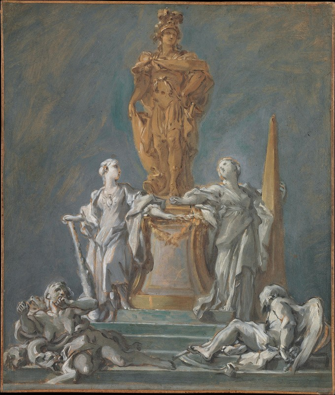 François Boucher - Study for a Monument to a Princely Figure