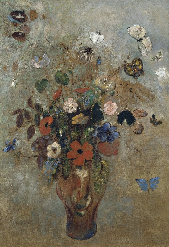 Odilon Redon - Still Life with Flowers
