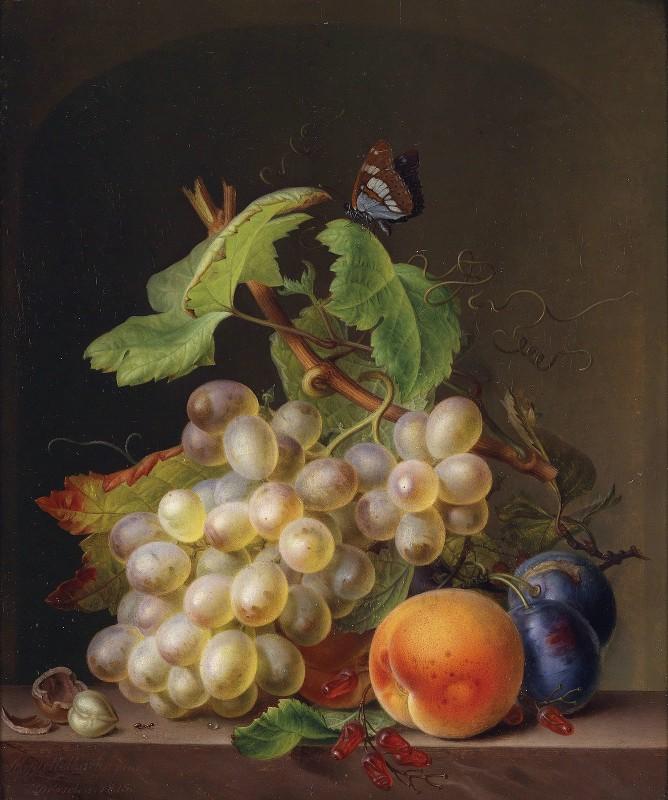 Ernst Moritz Gustav Tettelbach - Stillleben Mit Weintrauben