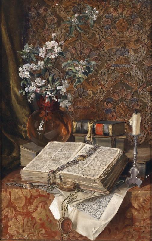 Francesco Malacrea - Stillleben Mit Folianten