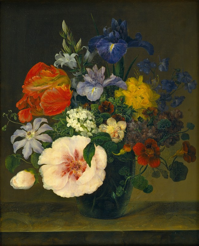 Hermania Neergaard - Flowers In A Glass