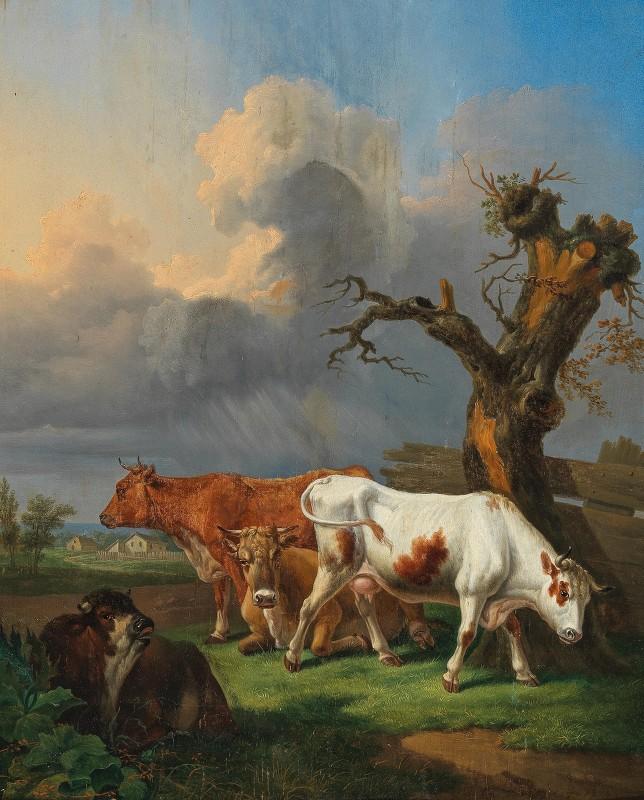 Johann Baptist Dallinger von Dalling - Cows Grazing in an Open Landscape