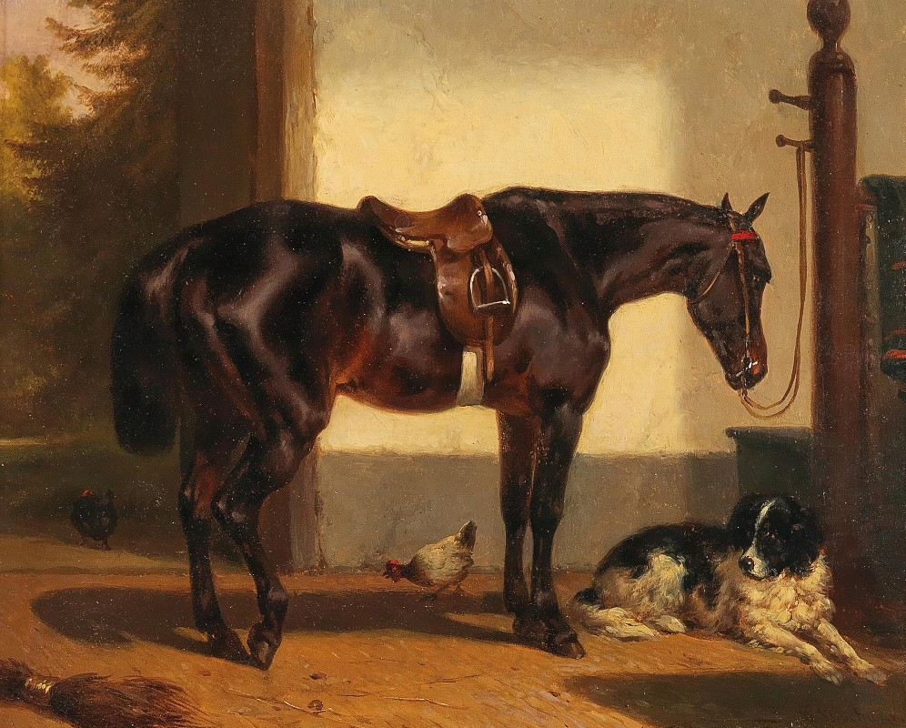 Wouterus Verschuur - A Loyal Friend in the Horse Stable