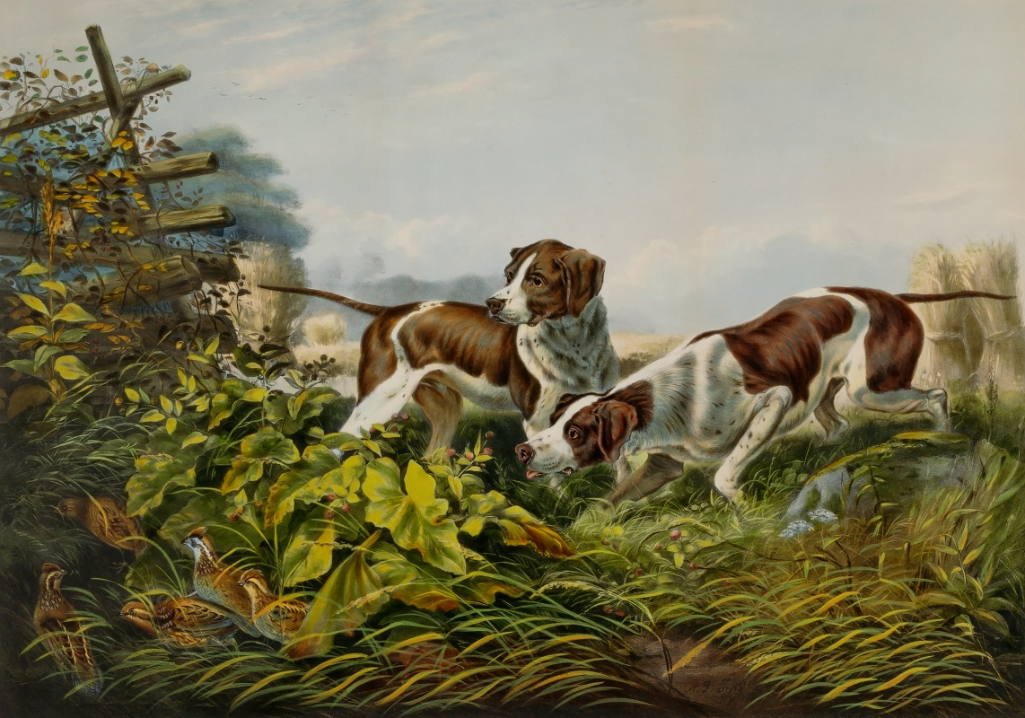 Charles Parsons - American Field Sports. 'On a Point.'