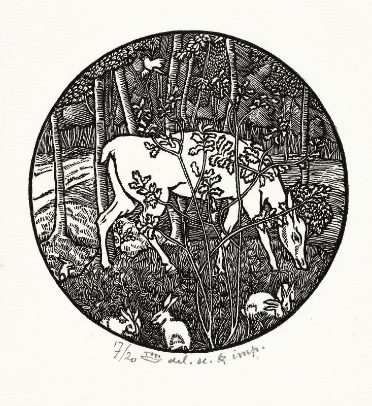 Lucien Pissarro - Grazend hert